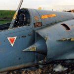 Mirage-2000 EGM. Προσγείωση στις γραμμές του τραίνου.