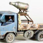 UB-32 Rocket Launcher on field-modified civilian truck